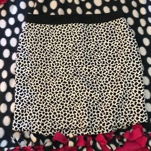 White with black spots skirt